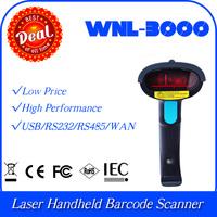 WNL-3000 SR 1D Laser Handheld UPC EAN bar code Barcode Reader Scanner Data Collector RS232 com Port