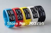Hot pedometer usb drive 2GB  4GB  8GB 16GB free shipping LED wrist usb flash disk/usb pen with tin box smart watch usb
