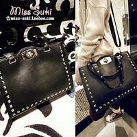 bolsas femininas 2013 women's handbag all-match black rivet bag shoulder bag handbag cross-body bag women's handbag  Carteras