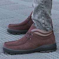 High suede shoes fashion male casual genuine leather casual shoes single shoes,B-181