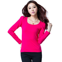 2013 autumn plus size clothing top all-match slim puff sleeve o-neck long-sleeve basic shirt