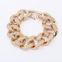 Sheegior 2014 Fashion Europe temperament simple Gold Chunky Plastic Meterial big joker women bracelet Free shipping