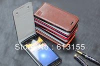 Huawei Ascend W2 Case,New high quality cowboy Genuine Filp Leather Cover Case For Huawei Ascend W2 case free shipping