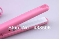 Free shipping Mini Pink Ceramic Electronic hair straightener 110-240V Straightening corrugated Iron,hair styling tools