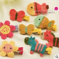 Min.order is $5 (mix order)Free Shipping,Handwoven cartoon pony fish flower children  side clip,color send RANDOMLY F002