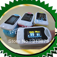 2014 Wholesale-New Arrival/Return FDA CE SPO2 PR Monitor Finger Pulse Oixmeter OLED Waveform 6 Display Modes 4 Colors Freeship