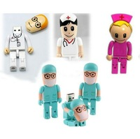 Free shipping,Wholesale 4pcs/lot Genuine 2GB-32GB Hot sale Catoon Doctor Series model 2.0 Memory Stick Flash Pen Drive LU372