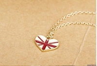# vintage jewelry British Flag Ladies Alloy Pendant  T-shirt Chain Women's/Girls Necklaces for women charms C/B  N1088