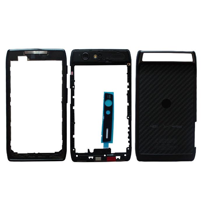 Free Shipping Original New Black Full Housing Case Faceplate+Middleplate+Back Cover For Motorola XT912 RAZR XT912 RAZR MAXX(China (Mainland))