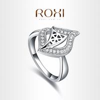 ROXI  Elegant streamline rings platinum plated with CZ-diamonds,fashion Environmental Micro-Inserted Jewelry,101019384