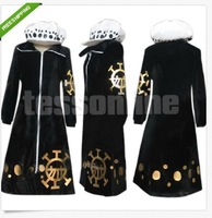 Free shipping One Piece Trafalgar Law Coat Hat Cosplay Costume Men Women Gift - Custom Made