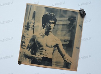 Bruce Lee classic Reminiscence posters Picture  wallpaper Gift  Bar Restaurant Cafe Bedrooms decorative painting   A127