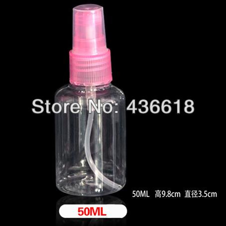 (12Pcs/Lot) Free Shipping Plastic Material 50ml Refillable Bottles Perfume Sprayer Cosmetic Spray Bottling(China (Mainland))