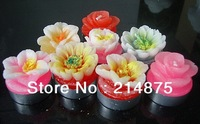 Free Shipping 30pcs/Lot   Floating candles /flower candle for wedding / birthday/gift set  Dia3.5cm *High 3cm  15g