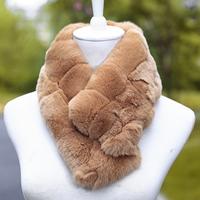Real fur fur collar son of rex rabbit hair scarf muffler scarf female collars autumn and winter thermal fox fur collar false