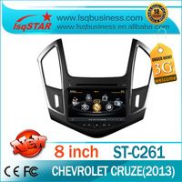 Car audio gps dvd for Chevrolet Cruze 2013 with A8 Chipset S100 platform with 3G WIFI GPS /BT/20 Disc CDC/IPOD/3-Zone POP