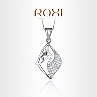 ROXI Exquisite necklace platinum plated with AAA zircon,fashion Environmental Micro-Inserted Jewelry,103001540
