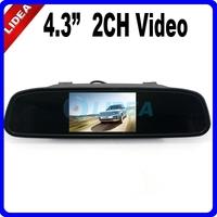 "4.3"" TFT Car Rear View DVD 2 Video Input Mirror LCD Monitor EMS Q-09"