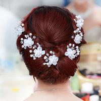 Crystal pearl bridal hair accessories set 6