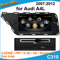 """S100 7"""" Car DVD GPS for Audi A4L after 2008 Car Audio Navigation Player with Radio GPS DVD iPod USB SD V-20 3G Support DVR"""