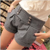 2013 autumn and winter new arrival legging plus size double breasted winter woolen shorts boots pants