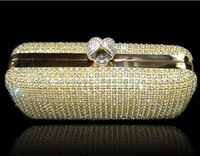 New arrival!!! Luxury Daimond evening bags,Two sides Ring rhinestone crystal clutches,bridal bags,Fashion Party bags XP122