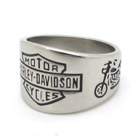 Jewelry Fashion 2013 New Arrival, Stainless Steel Rock Punk Biker Jewelry, Cool Fashion Silver Motorcycles Charm Rings Gift