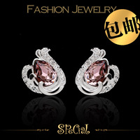 Special stud earring female s925 silver austria crystal handmade fashion anti-allergic 1 eloquence hot-selling