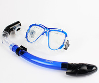 Optical corrective lens diving mask+full dry snorkel, quality branded diving mask with tempered glass optical lens