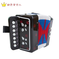 Mini child accordion educational musical instrument toy music piano paint gift