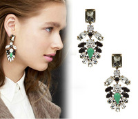 Europe and America popular fashion vintage marquise crystal dangle earrings stud earring for banquet