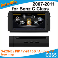 "S100 7"" Car DVD GPS for Mercedes Benz C Class W204 2007-2011 Car Audio Navigation Player with Radio GPS DVD iPod USB SD V-20 3G"