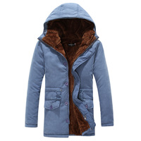 Men's clothing winter medium-long with a hood wadded jacket overcoat winter outerwear clothes tooling winter