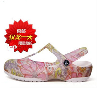 free shipping 2014 summer hole shoes jelly shoes women's slippers sandals platform wedges sandals