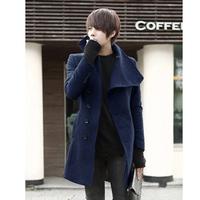 2013 slim medium-long overcoat male woolen overcoat coat casual coat men's clothing