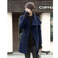 2013 slim medium-long overcoat male woolen overcoat coat casual coat men's clothing