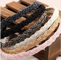 Min.order is $5 (mix order)Free Shipping,Korean handmade crystal beaded hairbands,headband,Korea hair jewelry,F015