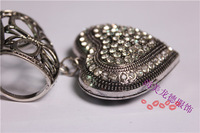 DIY Scarf charms heart pendant findings for scarf  Alloy tube Jewelry  Pendant Free shipment factory derect sale