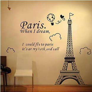Gentil Fancy RoomMates RMKGM Eiffel Tower Peel And Stick Giant Wall Decal