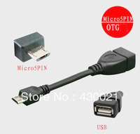 5Pcs/lot Micro USB OTG Cable For Samsung HTC NOKIA LG Lenovo ZTE Huawei Tablet PC MP3 Camera USB Adapter Cable