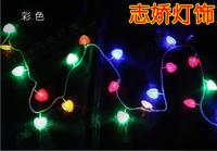 Led lights pendant lamp lantern flasher lamp set christmas decoration lights love lamp battery light