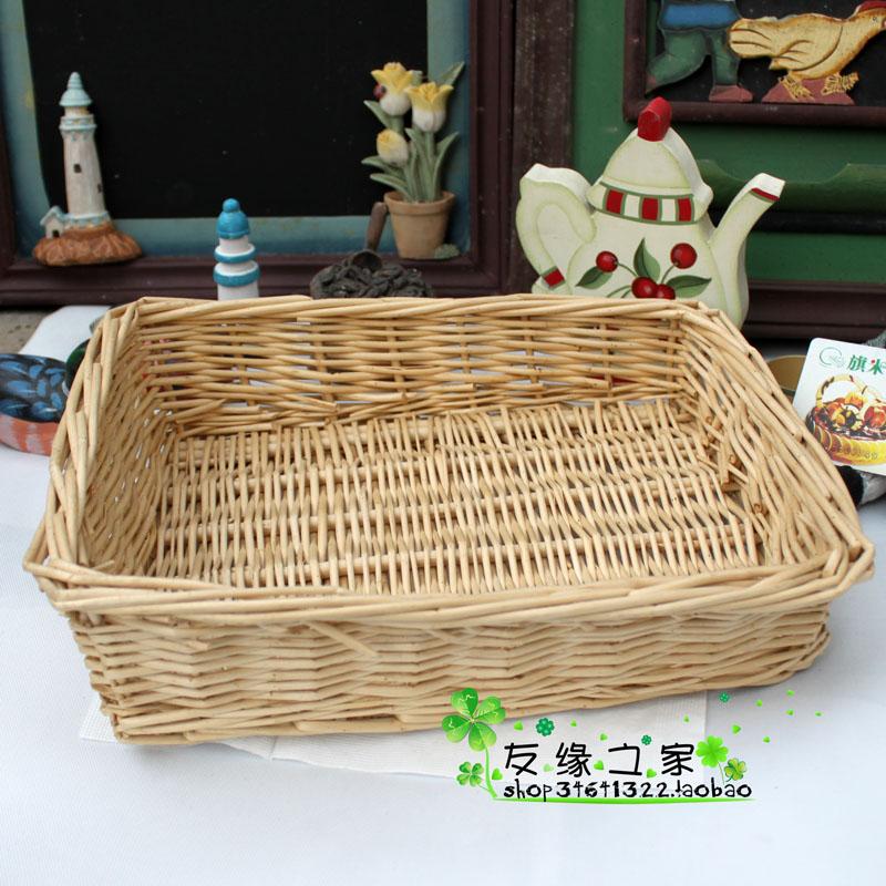 Zakka bread or fruit rattan storage basket 27cmx22cm free shipping(China (Mainland))