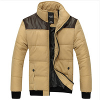 2013 male outerwear men's clothing cotton-padded jacket casual stand collar thermal thickening down wadded jacket