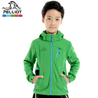 Pelliot outdoor trench child breathable soft shell clothing male sandtroopers female child fleece soft shell clothing
