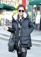 Winter women's down coat high quality fashion latest designer solid color down jacket women medium-long frock hoody coat WC1439