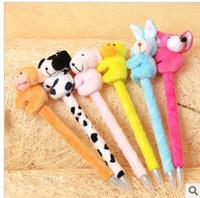 free shipping 20pcs/lot  fashion cartoon animal plush craft ballpens fashion promotion pen wholesale