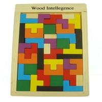 one set Child wooden  Large classic blocks wooden tetris toys  free shipping