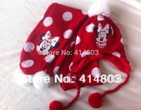 RETAIL! 2-6Y Girls Autumn/Winter Cartoon Earflap Hat+Scarf 2PIECE Set, Childrens Xmas Gift Caps