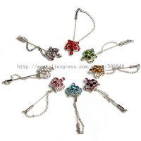 (600pcs mixed /lot)Hijab pins crystal chain scarf pin muslim fixed scarf safety pin