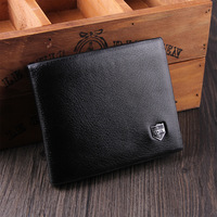 Promotion! Free shipping 2013 new fashion brand mens wallet, classic soild  pattern designer wallet leather purse 8001-2
